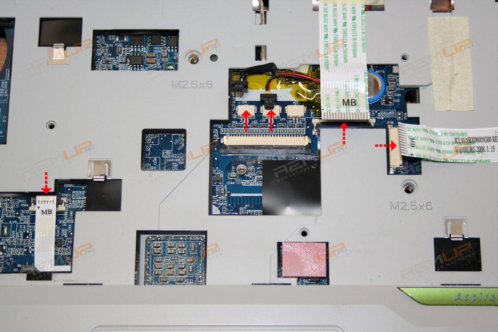 схема разборки ноутбука acer